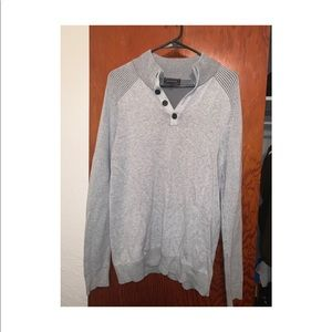 Men's Express Snap Mock Neck Cotton Sweater
